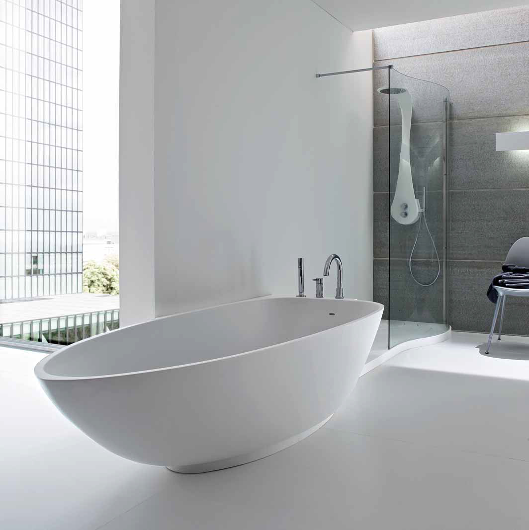 Дизайнерская, отдельно стоящая ванна Canotto Due