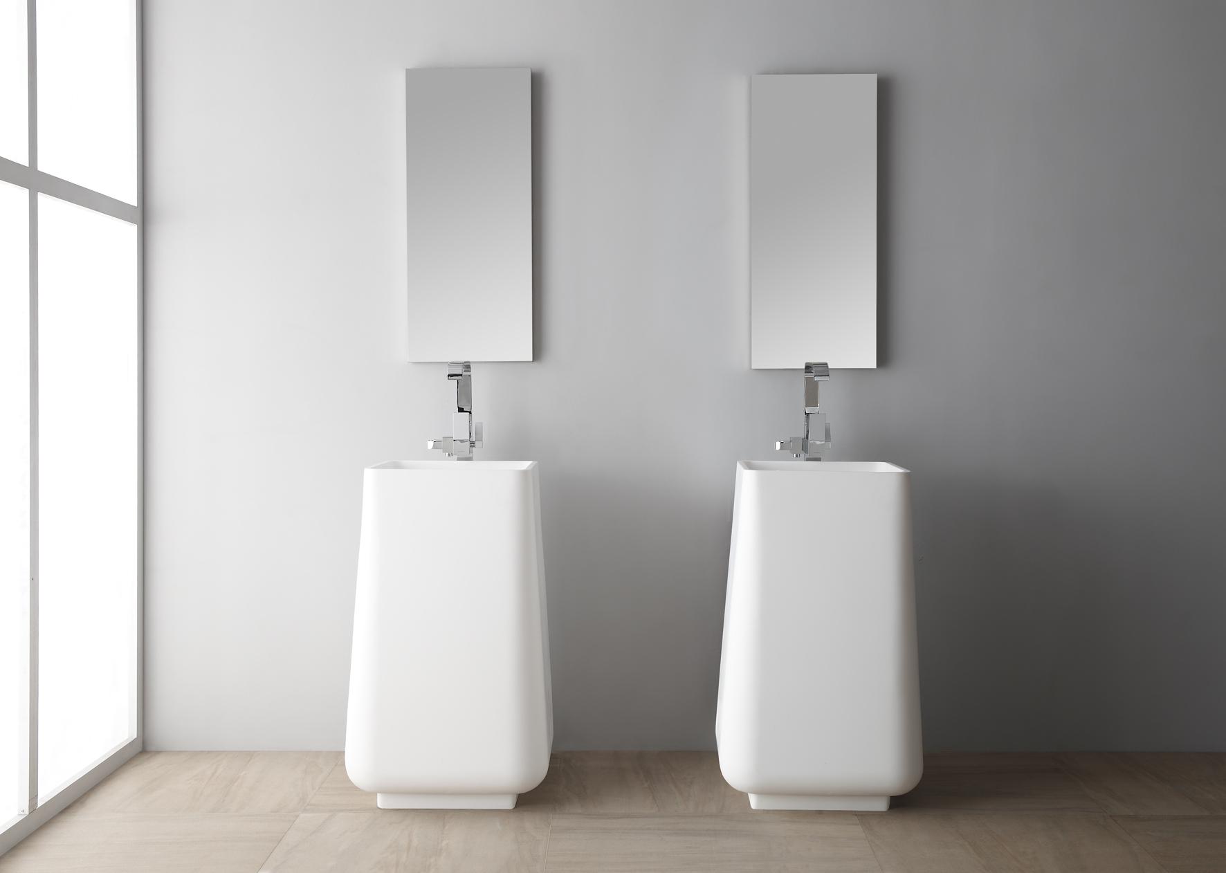 Квадратная, напольная раковина для ванной комнаты Монте Бианко