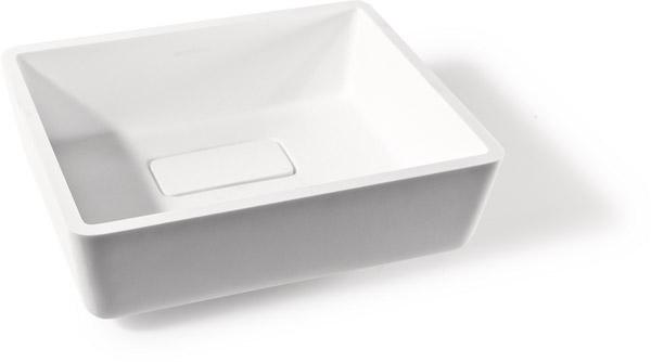 Фото квадратной раковины под стольного монтажа в ванную Loreto Uno