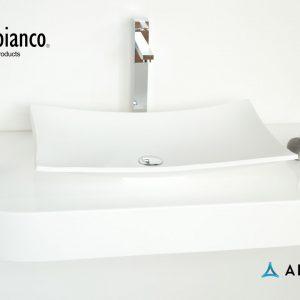 Дизайнерская накладная прямоугольная раковина Lugano