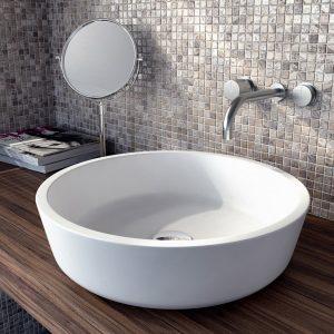 Фото в интерьере Круглой раковины на столешницу для ванной Isola Bella