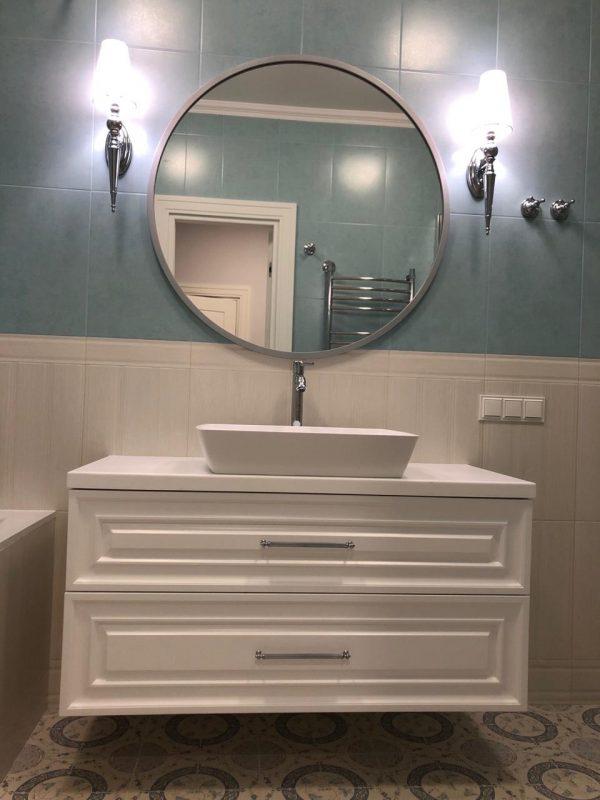 Столешницы на мебель для ванных комнат