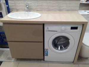 Фото в интерьере столешницы для стиральной машинки